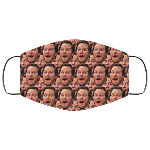 Andy Dwyer Face Mask Accessories TVShowGifts White One Size