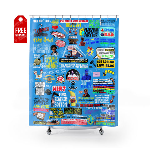 "Arrested Development Shower Curtain Home Decor TVShowGifts 71"" x 74"""