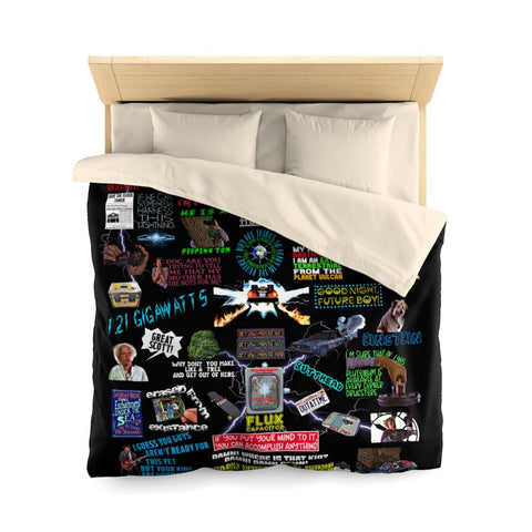 Back To The Future Duvet Cover Home Decor TVShowGifts Queen Cream
