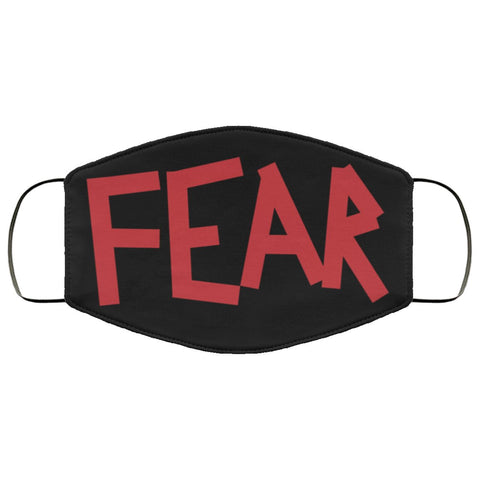 FEAR Face Mask - Black Accessories TVShowGifts White One Size