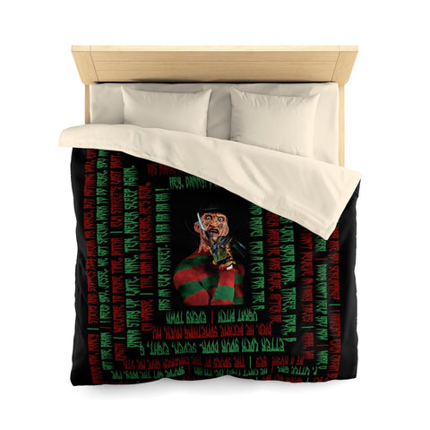 Freddy Krueger Duvet Cover - Quotes Home Decor TVShowGifts Queen Cream