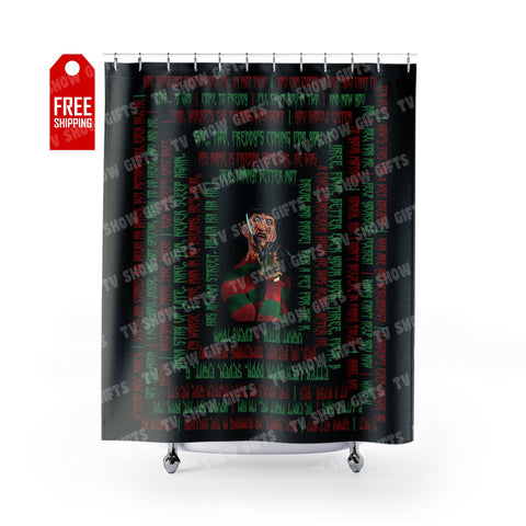 "Freddy Krueger Shower Curtain - Quotes Home Decor TVShowGifts 71"" x 74"""