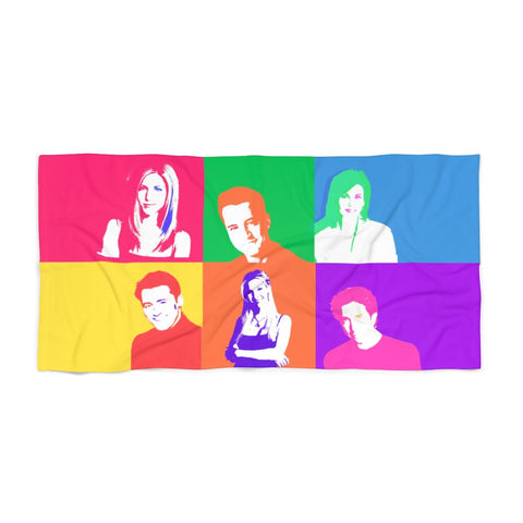 Friends Beach Towel - Color Home Decor TVShowGifts 36x72