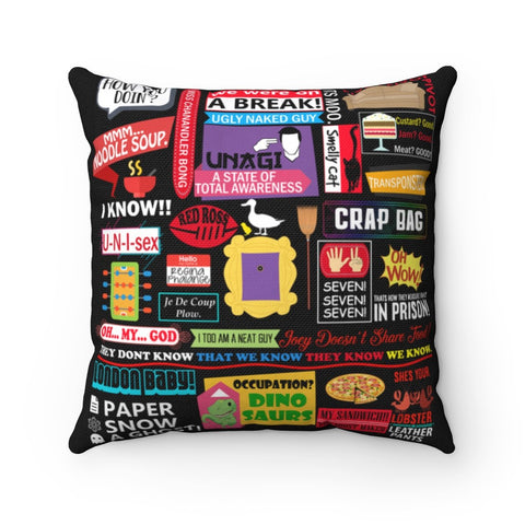 Friends Pillow - Collage Home Decor TVShowGifts 20x20