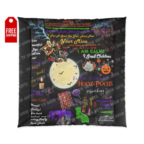 Hocus Pocus Comforter Home Decor TVShowGifts 88x88