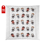 Horror Movie Comforter - White Home Decor TVShowGifts 88x88