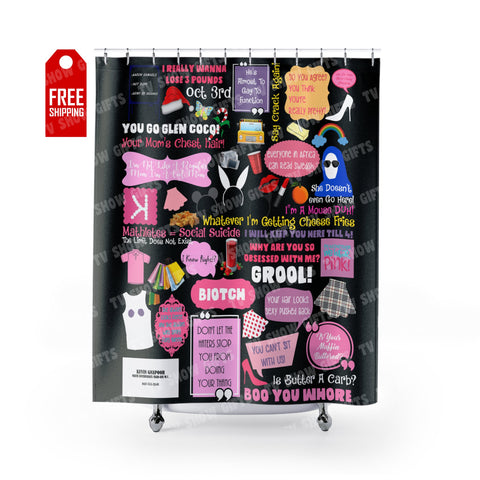 "Mean Girls Shower Curtain Home Decor TVShowGifts 71"" x 74"""
