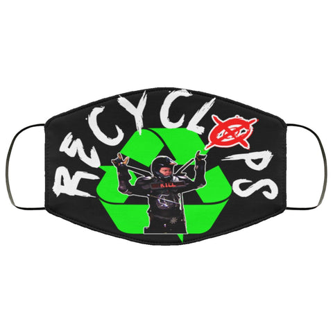 Recyclops Face Mask Accessories TVShowGifts White One Size