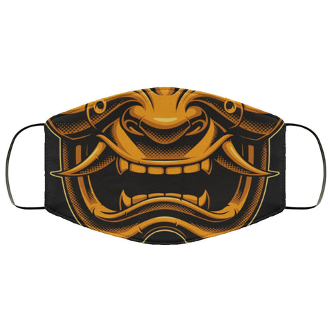 Samurai Warrior Face Mask Accessories TVShowGifts White One Size