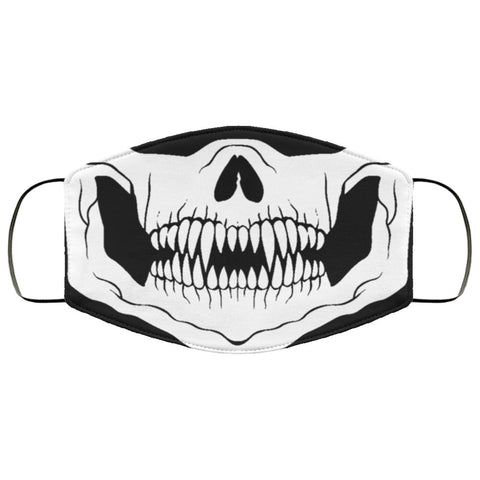 Skull Mouth Face Mask Accessories TVShowGifts White One Size