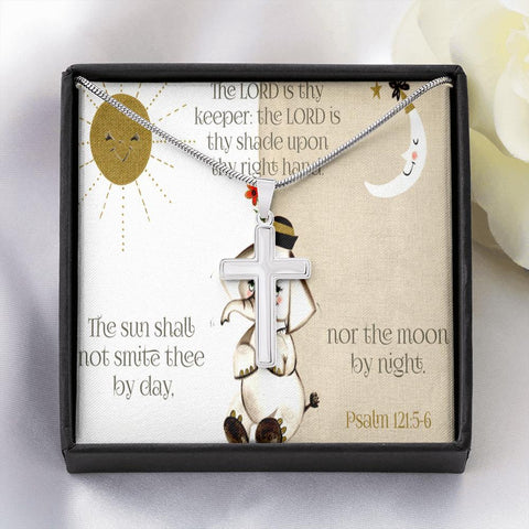 Sun And Moon Cross Necklace Jewelry TVShowGifts