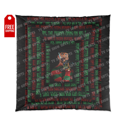 The Freddy Krueger Comforter - Quotes Home Decor TVShowGifts 88x88