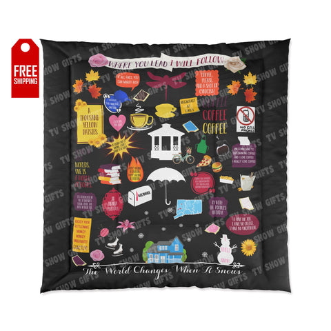 The Gilmore Girls Comforter Home Decor TVShowGifts 88x88