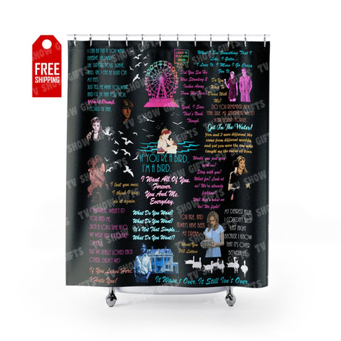 "The Notebook Shower Curtain Home Decor TVShowGifts 71"" x 74"""