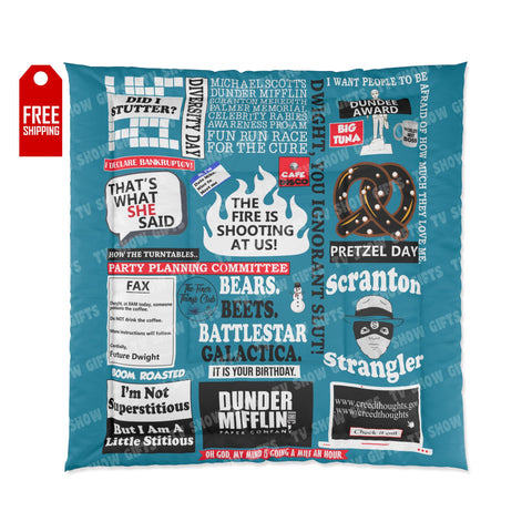 The Office Comforter - Blue Home Decor TVShowGifts 88x88