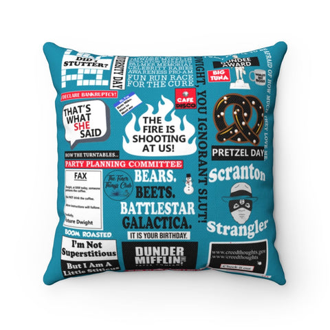 The Office Pillow - Blue Home Decor TVShowGifts 20x20