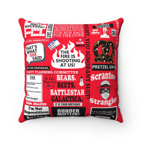 The Office Pillow - Red Home Decor TVShowGifts 20x20