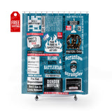 "The Office Shower Curtain Home Decor TVShowGifts 71"" x 74"""