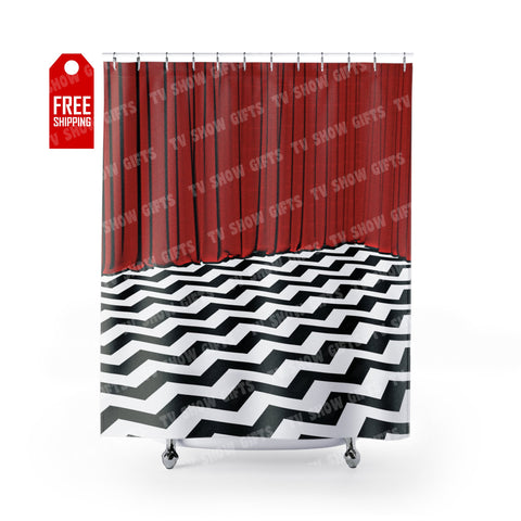 "Twin Peaks Shower Curtain Home Decor TVShowGifts 71"" x 74"""