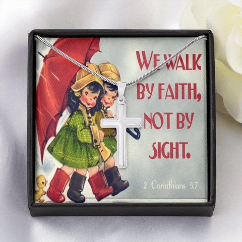 Walk By Faith Cross Necklace Jewelry TVShowGifts