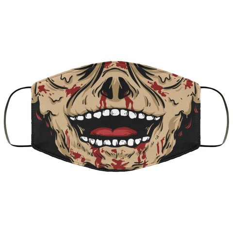 Zombie Face Mask Accessories TVShowGifts White One Size