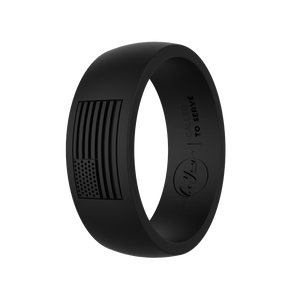 """Obsidian"" Men's America Called To Serve Silicone Rings"