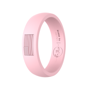"""Blush"" Women's America Called To Serve Silicone Ring"