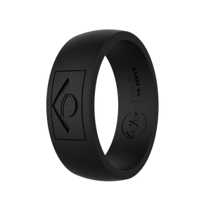 """Obsidian"" Men's Brazil Called To Serve Silicone Rings"