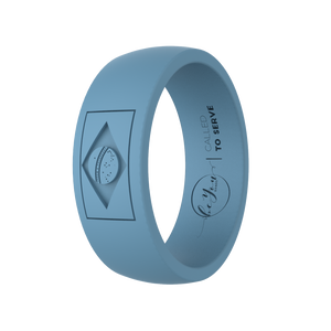 """Seaside Blue"" Men's Brazil Called To Serve Silicone Rings"