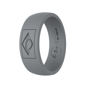 """Slate Grey"" Men's Brazil Called To Serve Silicone Rings"