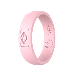 """Blush"" Women's Brazil Called To Serve Silicone Ring"
