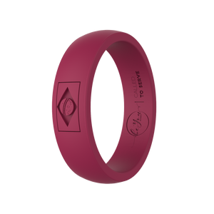 """Oxblood"" Women's Brazil Called To Serve Silicone Ring"
