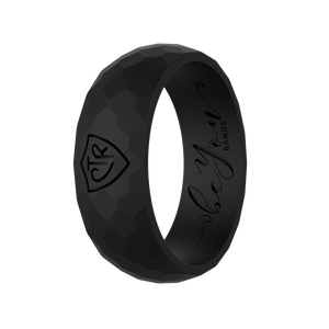 """Black"" Men's Silicone CTR Ring"