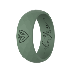 """Sacred Grove Green"" Men's Silicone CTR Ring"