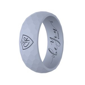 """Light Gray"" Men's Silicone CTR Ring"