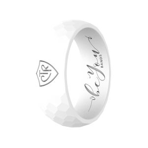 """Temple White"" Men's Silicone CTR Ring"