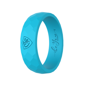 """Aqua"" Women's Silicone CTR Ring"
