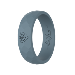 """Charcoal"" Women's Silicone CTR Ring"