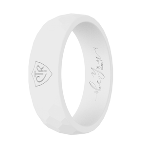 """White"" Women's Silicone CTR Ring"
