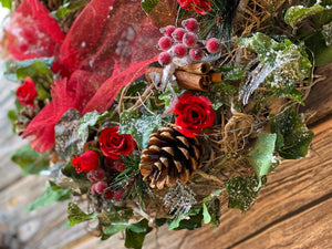 Bunny and teds winter collection, Christmas wreaths, floral home decor