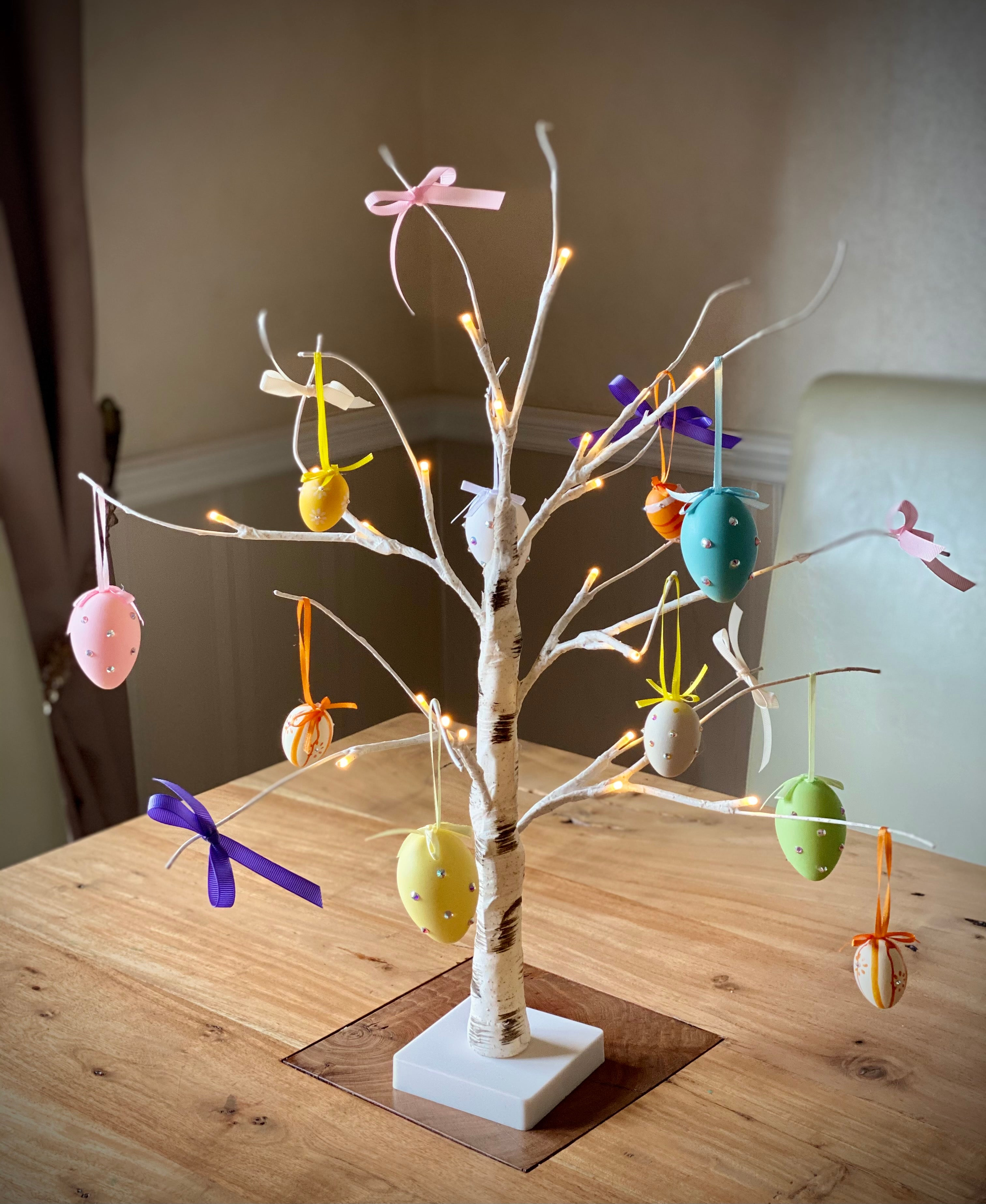 Easter Tree with Eggs or Swarovski Crystal Eggs