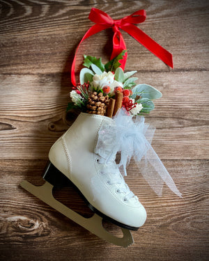 Open image in slideshow, Festive Floral Skating Boot