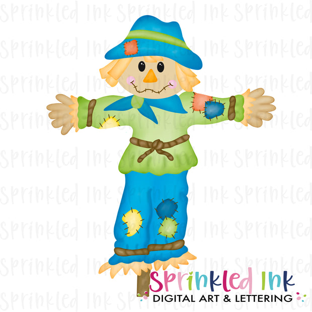 Watercolor PNG Scarecrow Boy Digital Download File