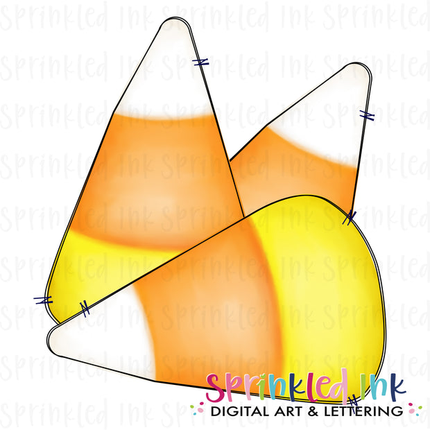 Watercolor PNG Candy Corn Digital Download File