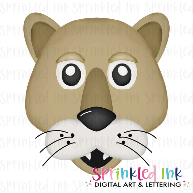 Watercolor PNG |MASCOT| Cougar Download File