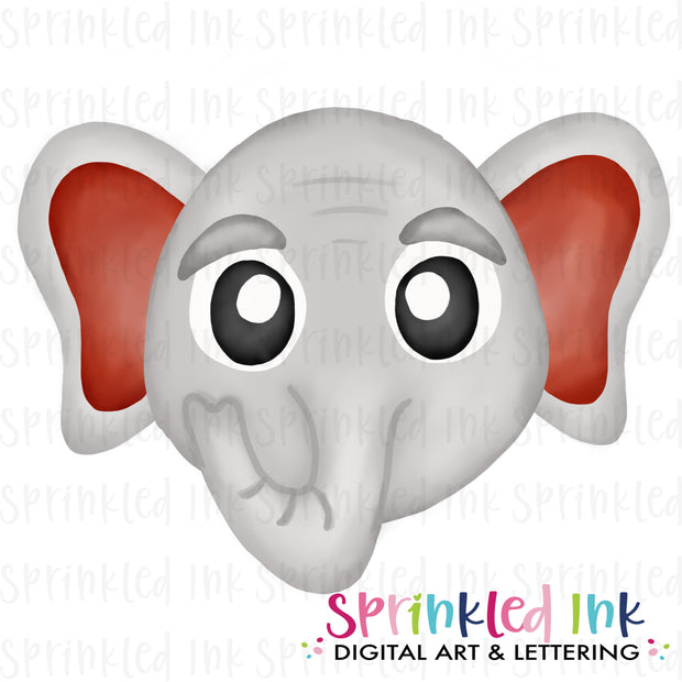 Watercolor PNG |MASCOT| Bama Elephant ROLL TIDE Download File