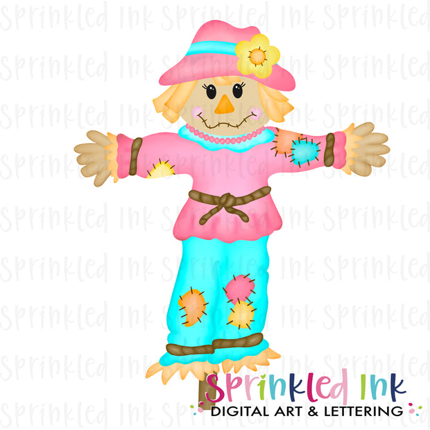 Watercolor PNG  Scarecrow Girl Digital Download File