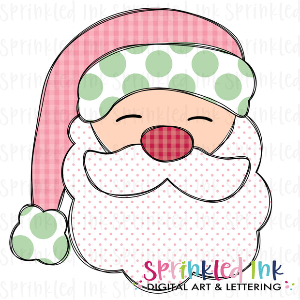 Watercolor PNG Santa Claus Doodle Download File