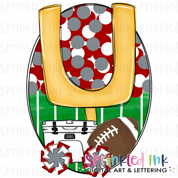 Watercolor PNG Tailgates and Touchdowns Crimson Team Colors Download File