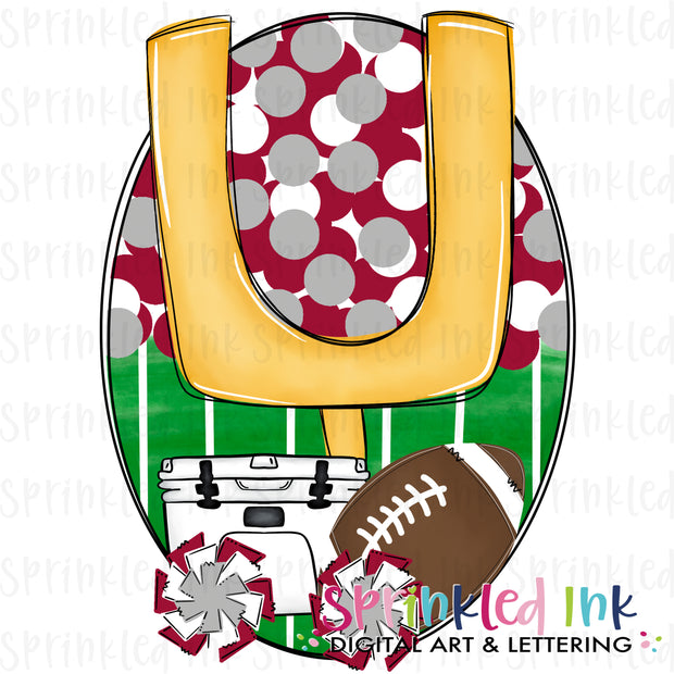 Watercolor PNG Tailgates and Touchdowns Soo Pig Red Team Colors Download File